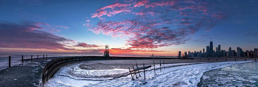 Frozen Sunrise Photograph by Matt Frankel