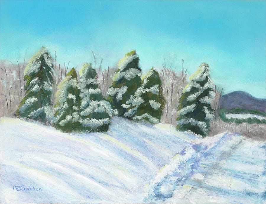 Snow Painting - Frozen Sunshine by Arlene Crafton