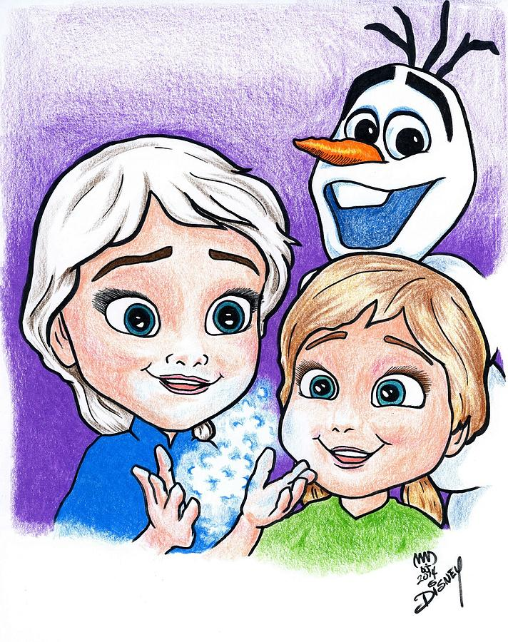 how to draw baby elsa