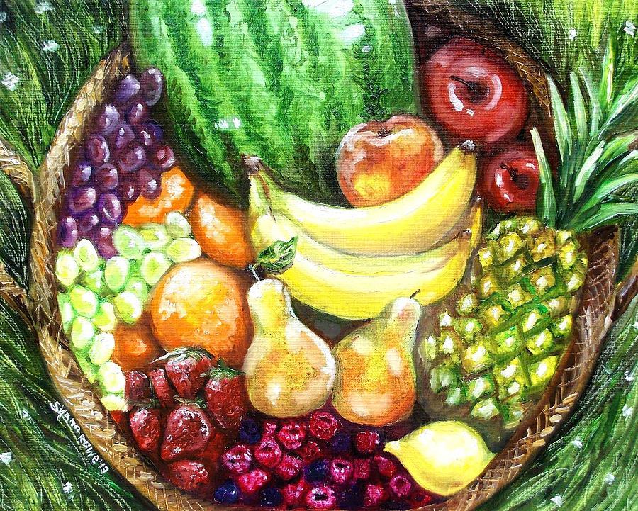 Fruit Painting - Fruit Basket by Shana Rowe Jackson