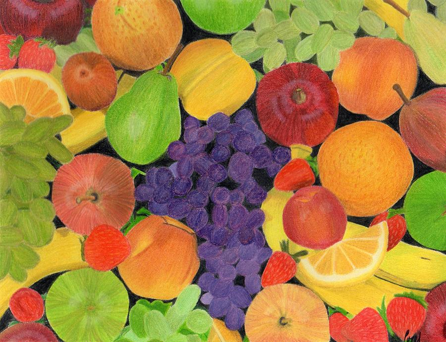 Fruit Drawing - Fruit by Bav Patel