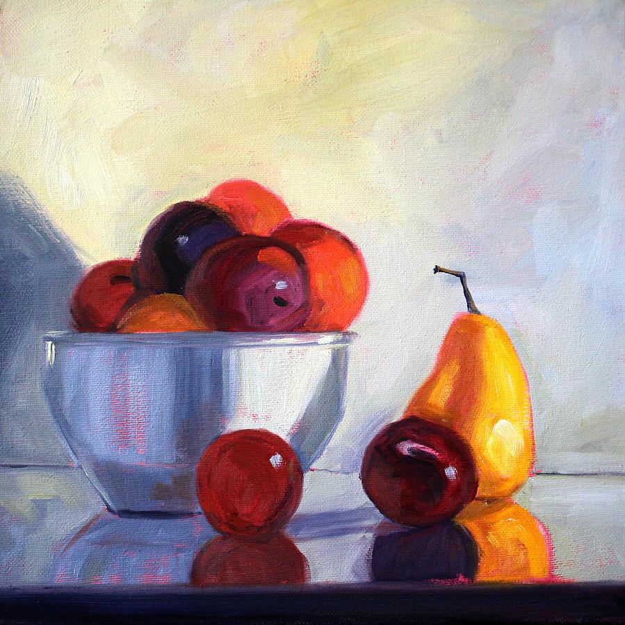 Fruit Painting - Fruit Bowl by Nancy Merkle