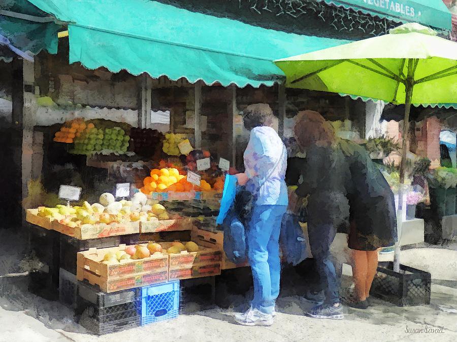 Fruit Photograph - Fruit For Sale Hoboken Nj by Susan Savad