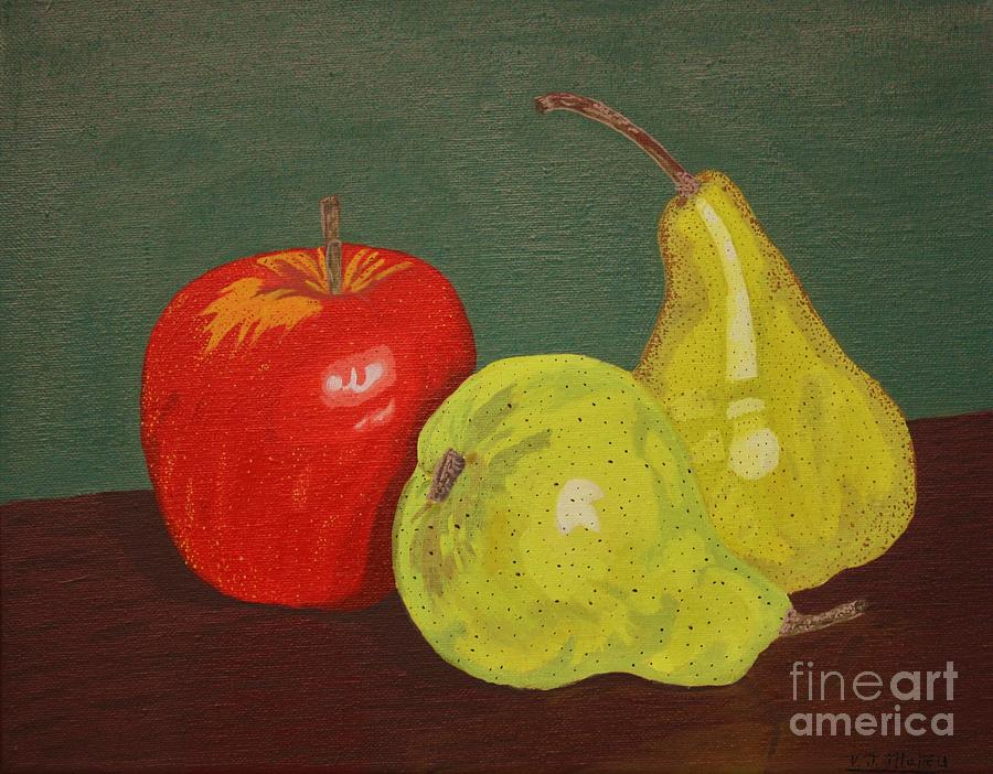 Fruit Painting - Fruit For Teacher by Vicki Maheu