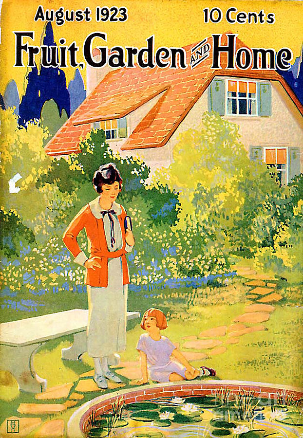 Covers Drawing   Fruit Garden And Home 1923 1920s Usa By The Advertising  Archives