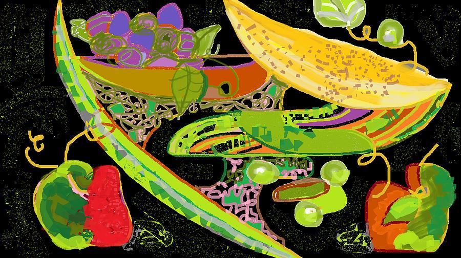 Fruit Digital Art - Fruit Images by Beebe  Barksdale-Bruner