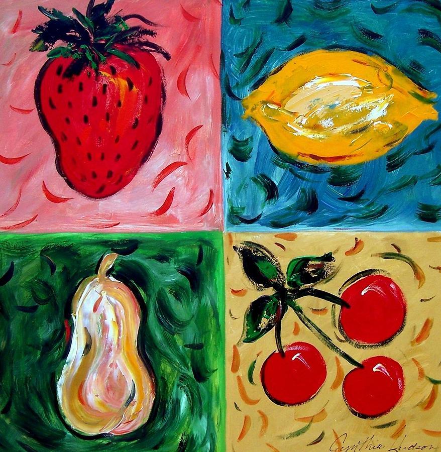 Fruit Painting - Fruit Ll by Cynthia Hudson