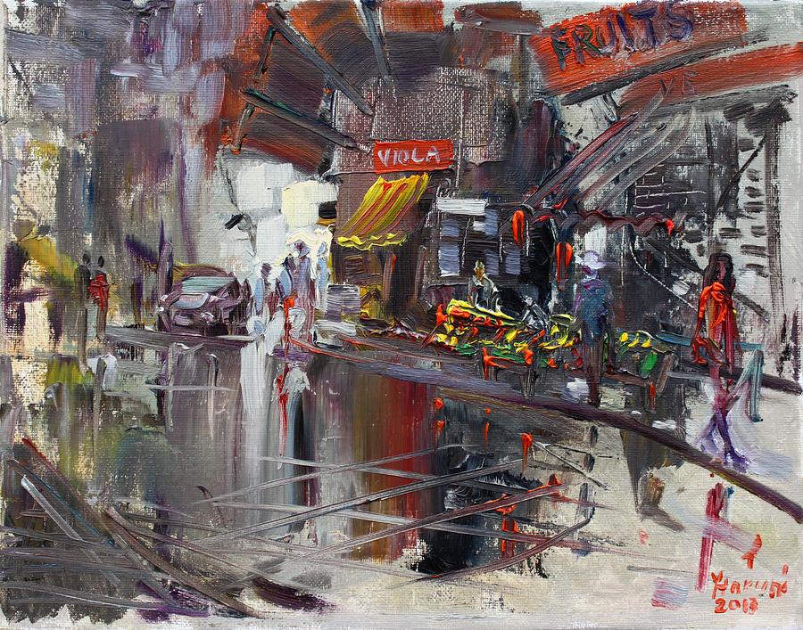 Fruit Market Painting - Fruit Market by Ylli Haruni