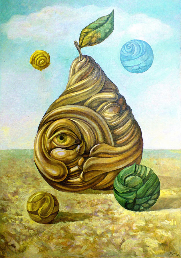Pear Painting - Fruit Of Knowledge by Filip Mihail