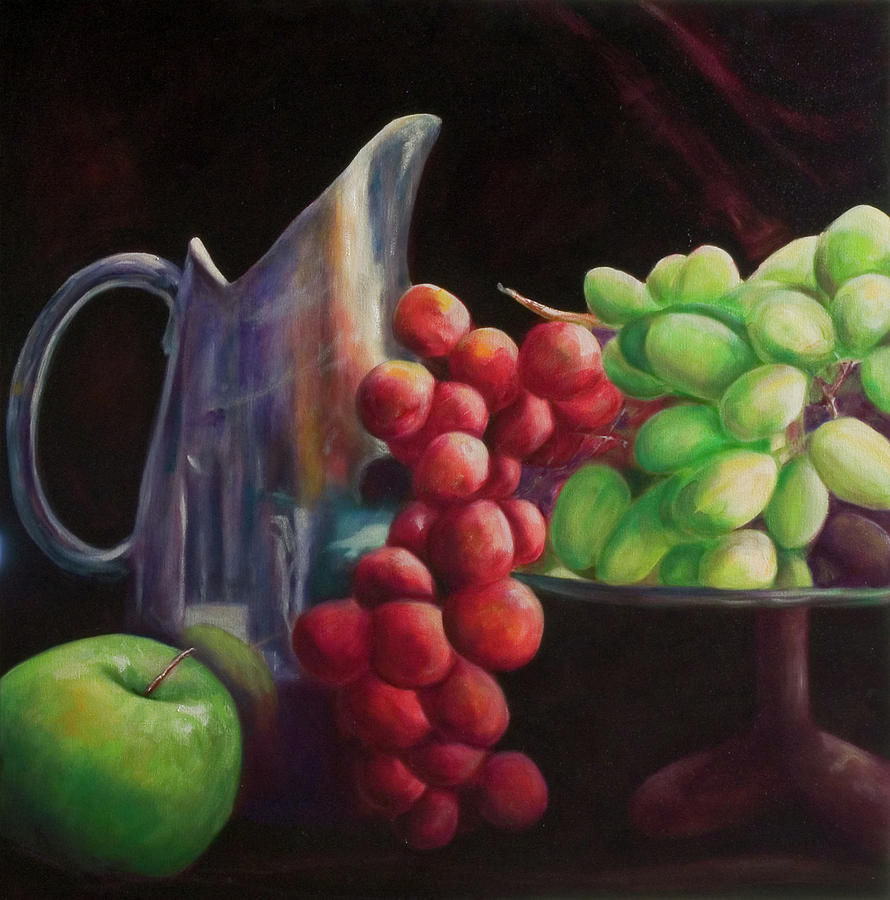 Grapes Painting - Fruit of the Vine by Shannon Grissom