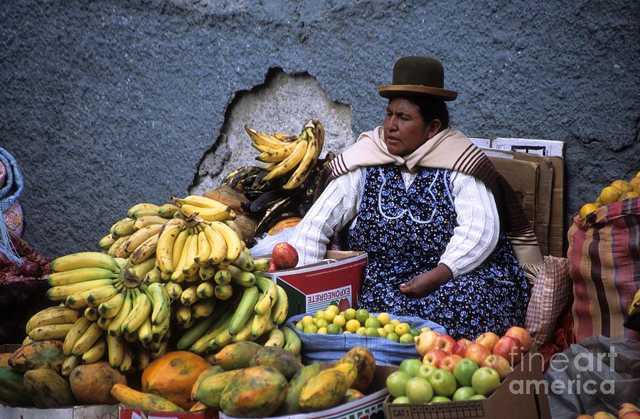Bolivia Photograph - Fruit Seller by James Brunker