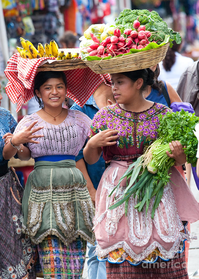 Colorful Photograph - Fruit Sellers In Antigua Guatemala by David Smith