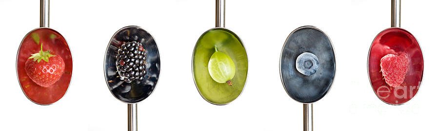 Fruit Photograph - Fruit Spoons by Tim Gainey