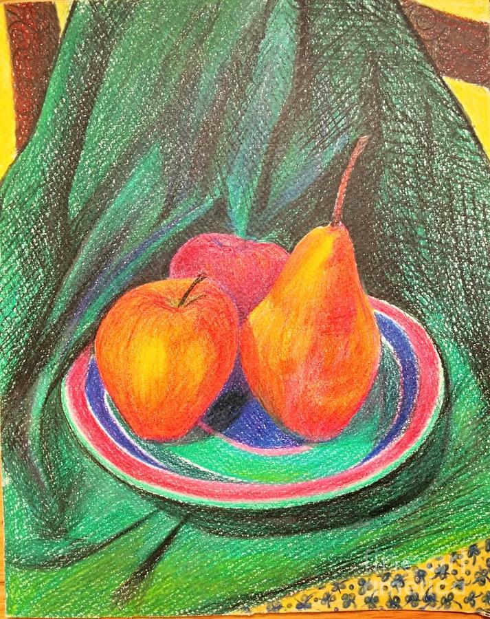 fruit Still Life Drawing