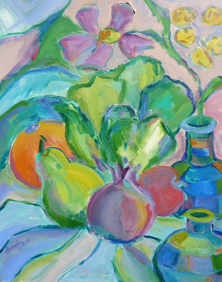 Abstract Painting - Fruits And Veggies  by Brenda Ruark