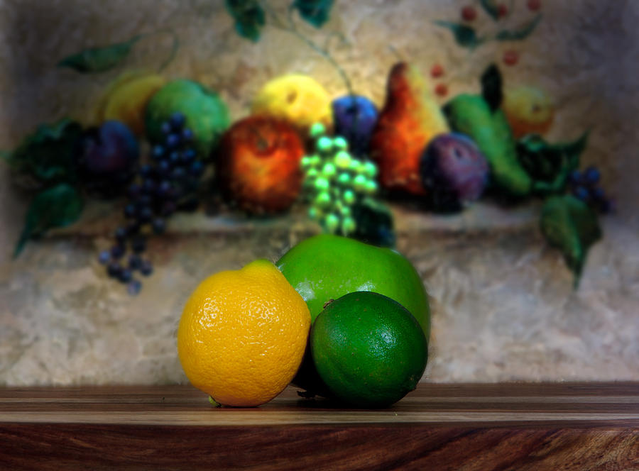 Still Life Photograph - Fruits Galore by Cecil Fuselier