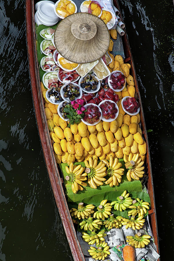 Fruits In A Boat On A Floating Market Photograph by Rogdy Espinoza Photography