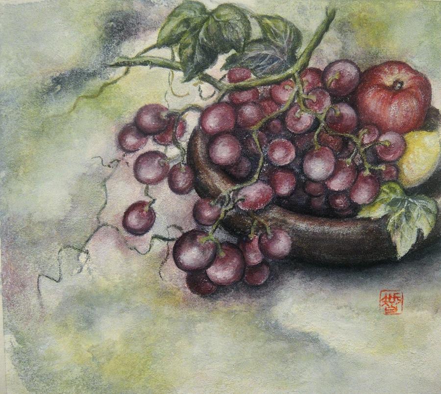 Japanese Painting - Fruits by Tomoko Koyama