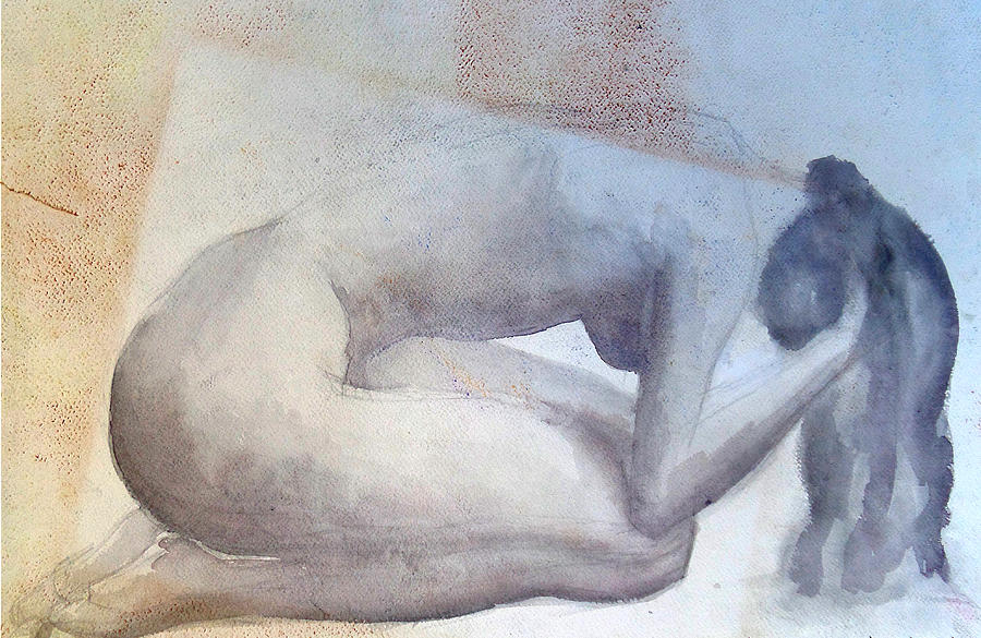 Nude Painting - Frustration by Myke  Irving