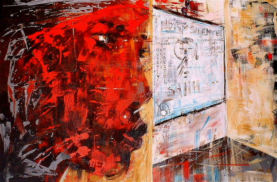 Abstract Painting - Frustrations Of An A... by Laurend Doumba