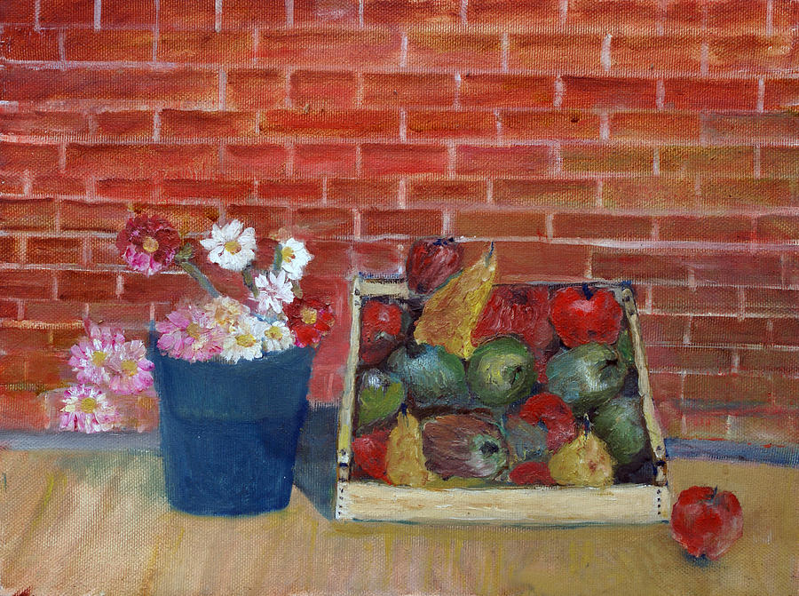 Nature Painting - Frutta E Fiori by Niki Mastromonaco