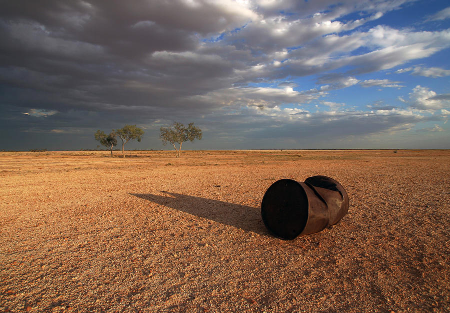 Drum Photograph - Fuel Stop by Gordon  Grimwade