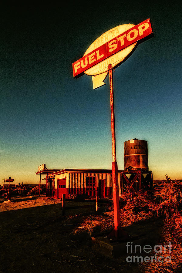 Sign Photograph - Fuel Stop by Pam Vick