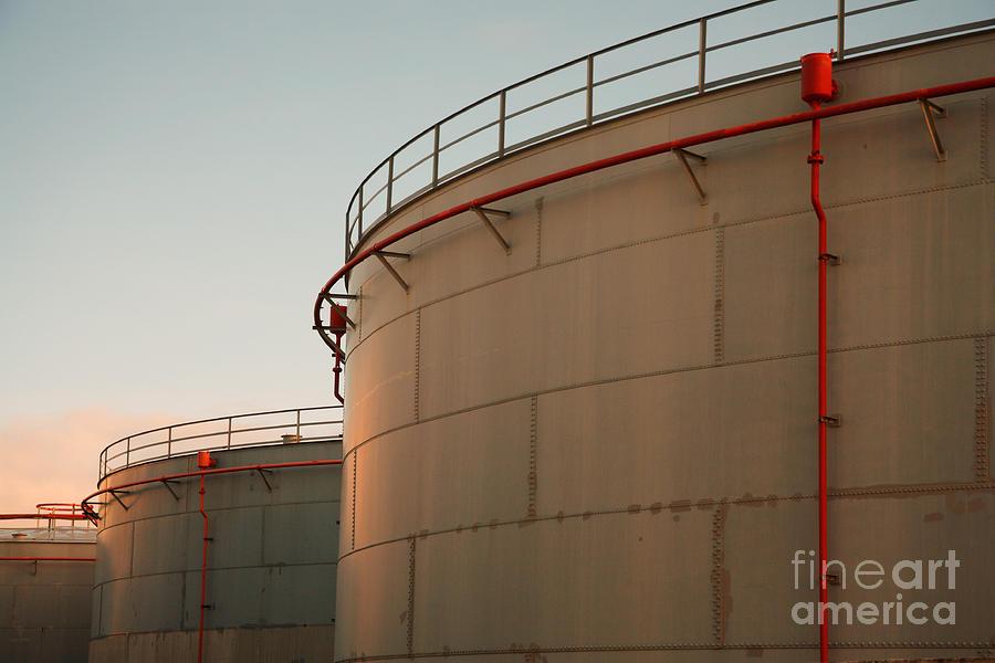 Fuel Tanks Photograph - Fuel Tanks by Gaspar Avila