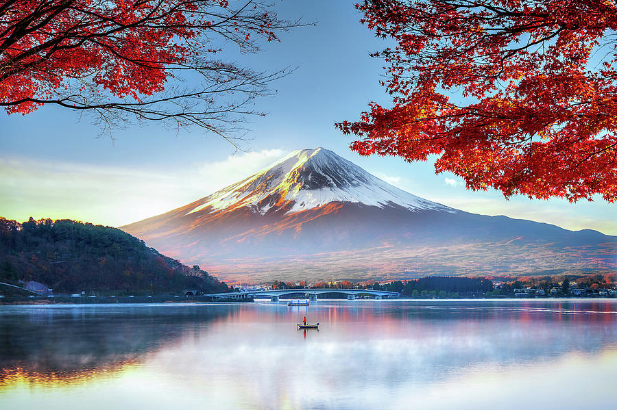 Fuji Mountain In Autumn Photograph by Doctoregg