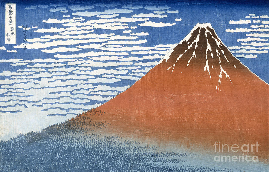 Japan Painting - Fuji Mountains In Clear Weather by Hokusai
