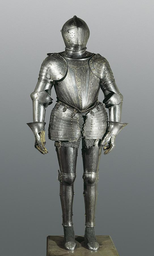 Helmet Photograph - Full Armour. Made In Milan by Everett