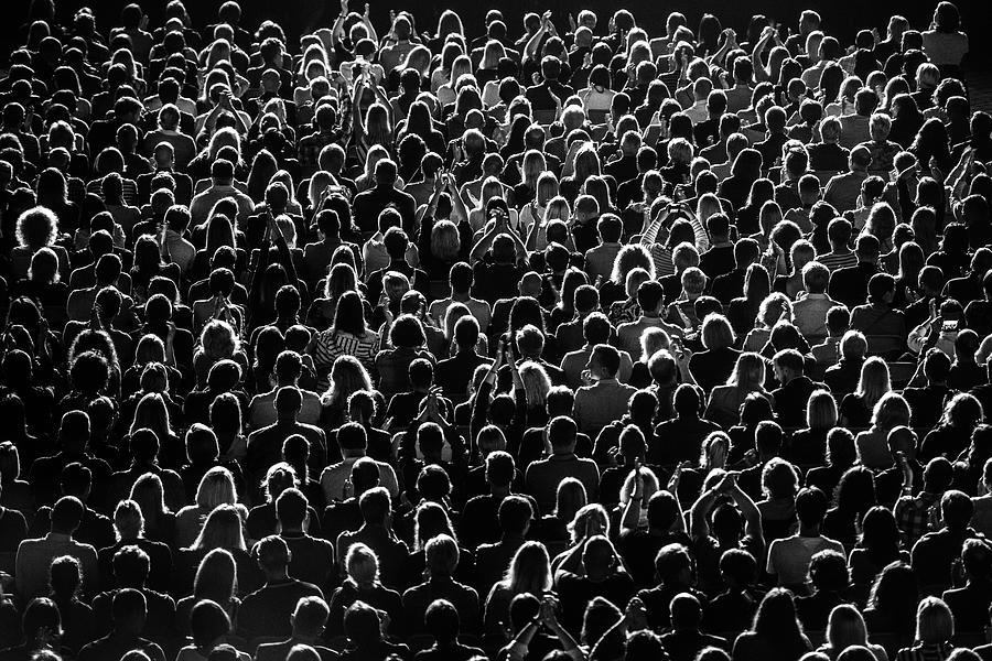 Full Frame Shot Of Crowd At Music Photograph by Rytis Seskaitis / Eyeem