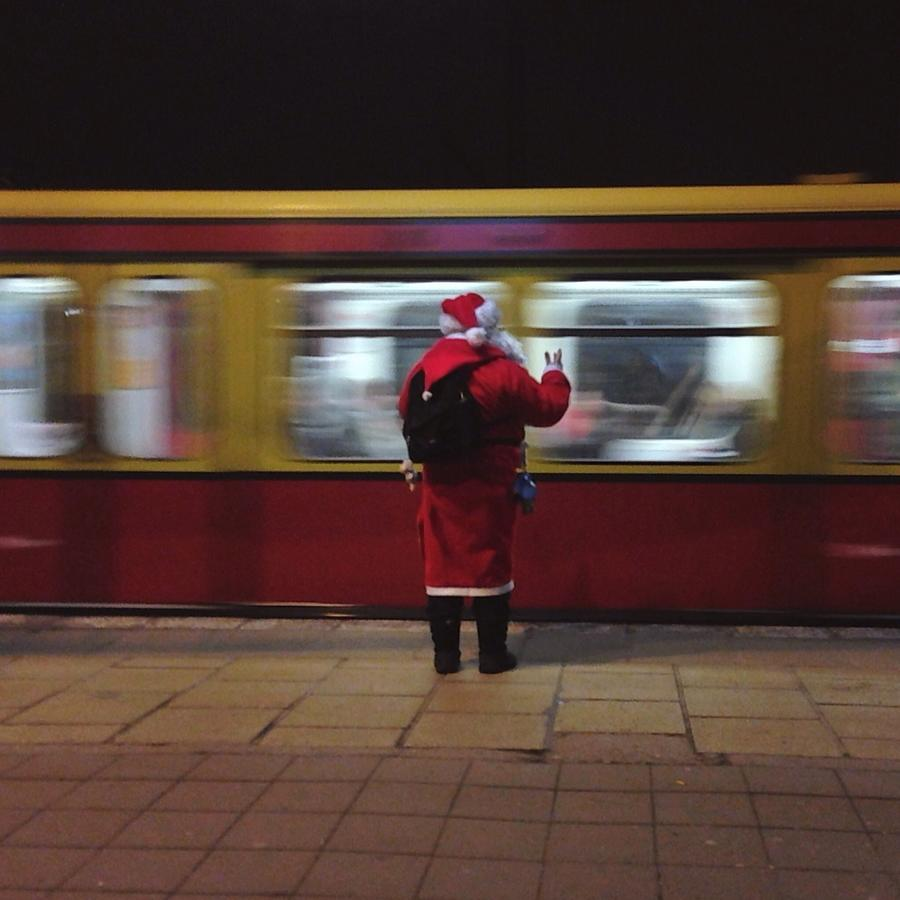 Full Length Rear View Of Man In Santa Photograph by Monika Kanokova / Eyeem