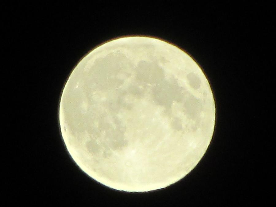 Full Moon Photograph - Full Moon Axis by Debbie Nester