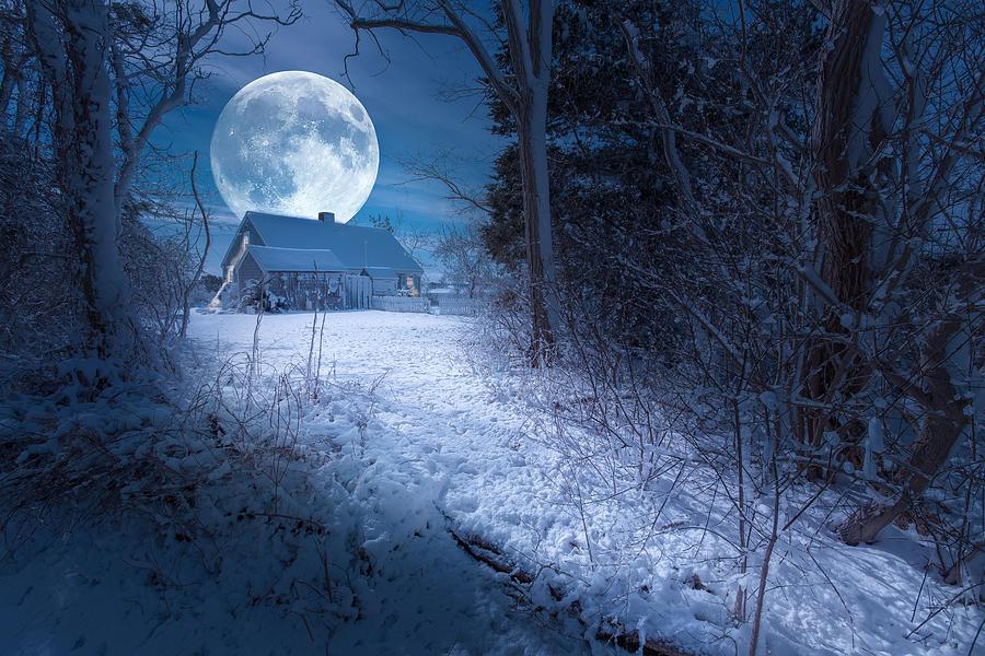 Full Moon Photograph - Full Moon by Dapixara Art