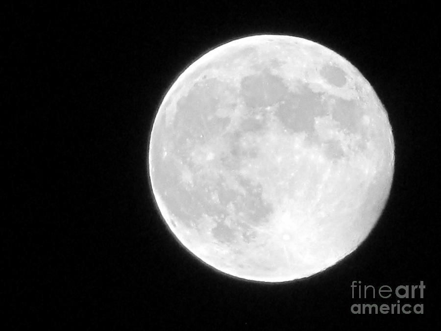 Moon Photograph - Full Moon by Gayle Melges