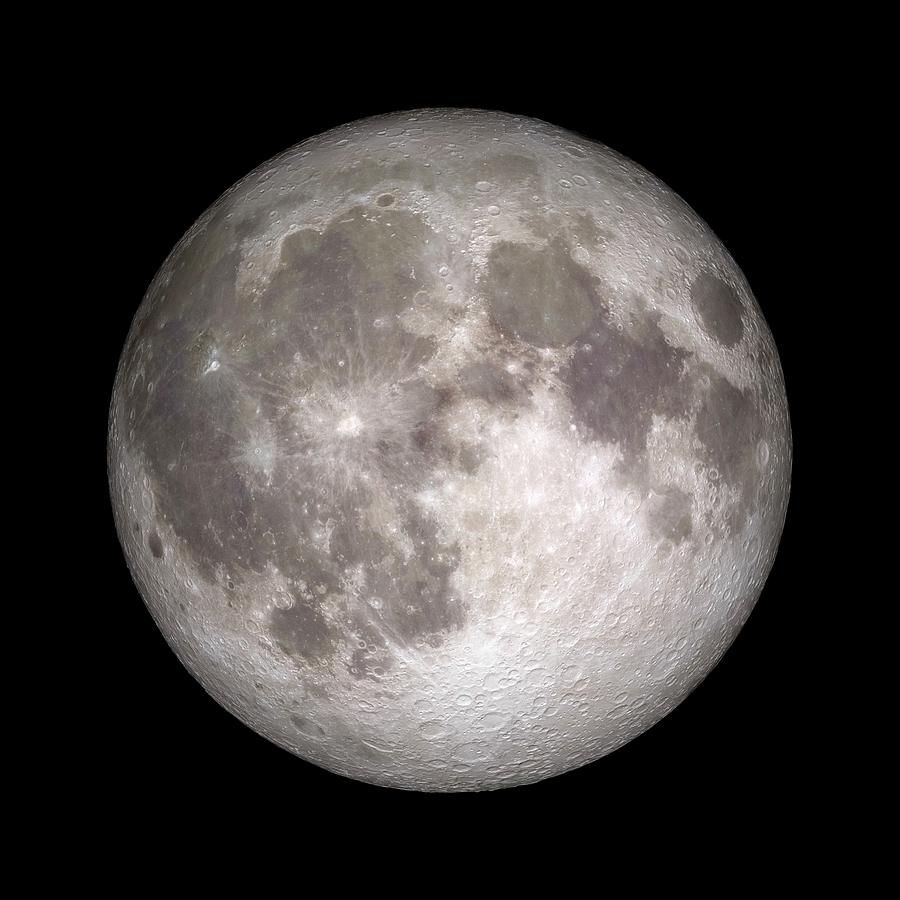 Moon Photograph - Full Moon by Nasa/gsfc-svs/science Photo Library