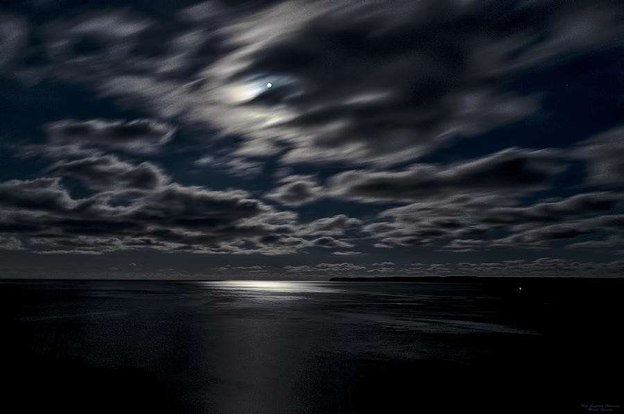 Bay Of Fundy Photograph - Full Moon On The Bay Of Fundy by Marty Saccone