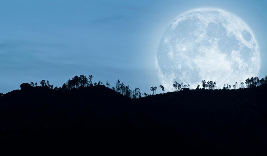 Full Moon Over The Hills Photograph by Rui Almeida Fotografia