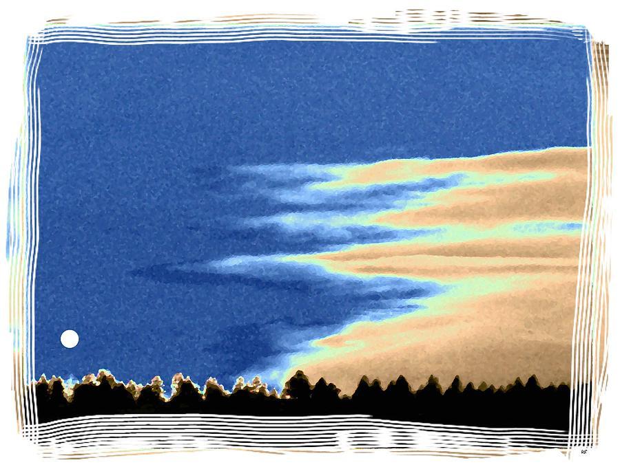 Full Moon Rising Digital Art - Full Moon Rising by Will Borden