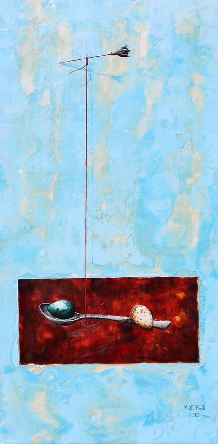 Eggs Painting - Full Of Wish by Mary C Farrenkopf