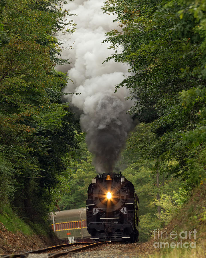 Steam Photograph - Full Steam Ahead by Joshua Clark