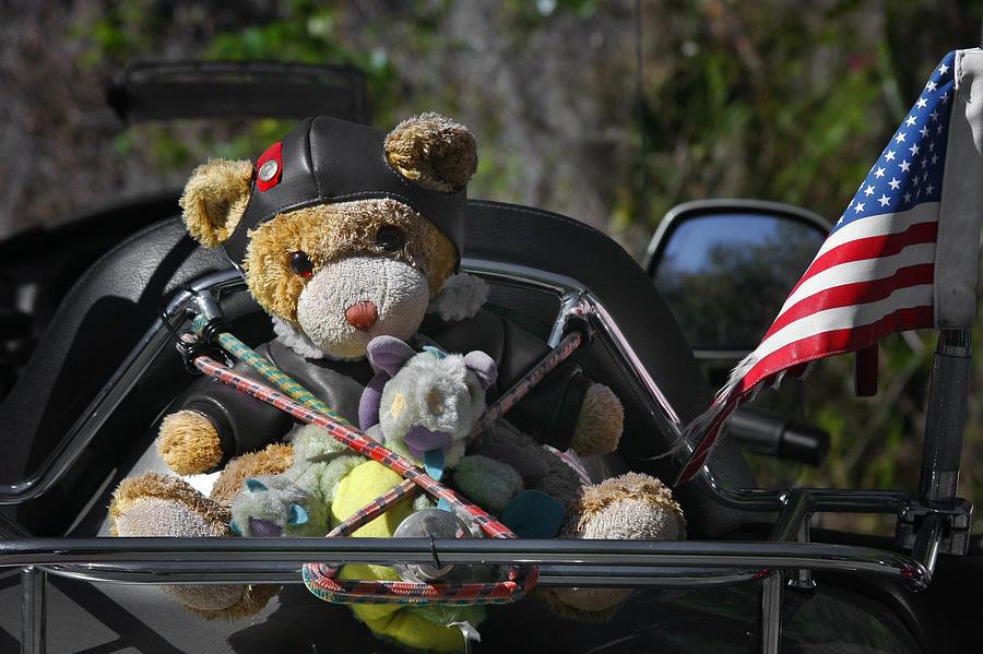 Biker Photograph - Full Throttle Teddy Bear by Christine Till