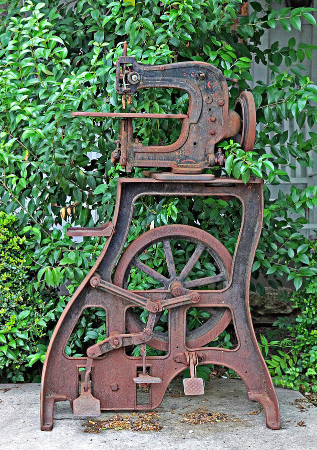 Full View Antique Leather Sewing Machine Photograph By Linda Phelps Amazing Vintage Leather Sewing Machine