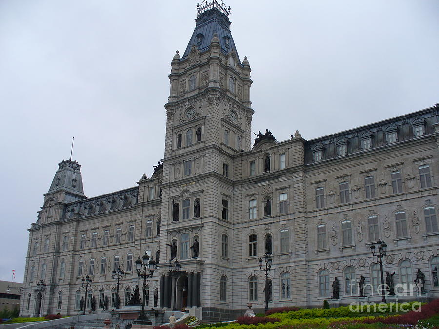 Canadian Photograph - Full View Of Quebecs Parliament Building by Lingfai Leung