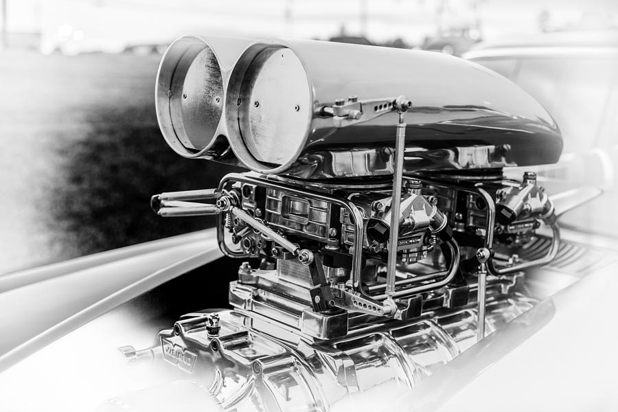 Engine Photograph - Fully Blown by Ted Petrovits III
