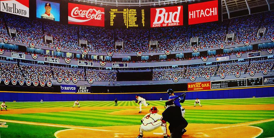 Fulton County Stadium Painting By Thomas Kolendra