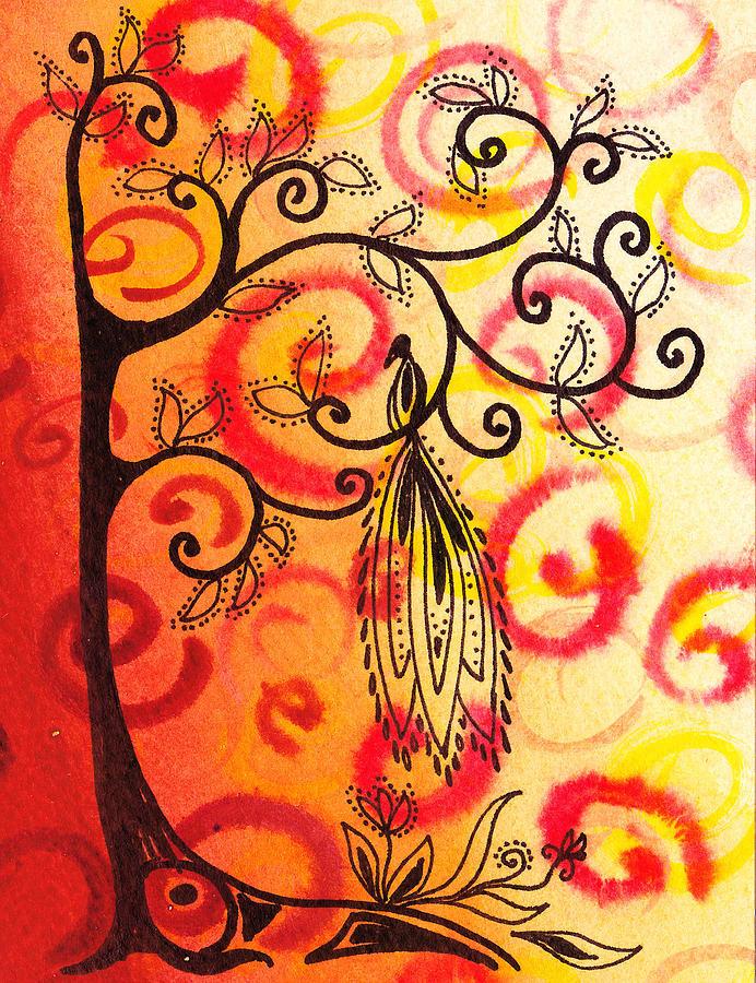 Tree Painting - Fun Tree Of Life Impression II by Irina Sztukowski