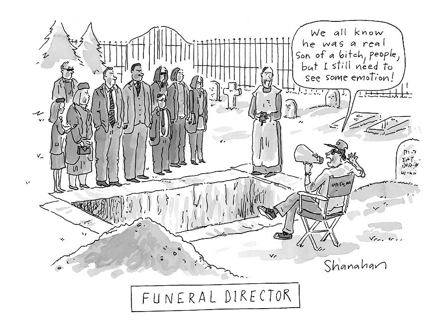 funeral Director Drawing by Danny Shanahan