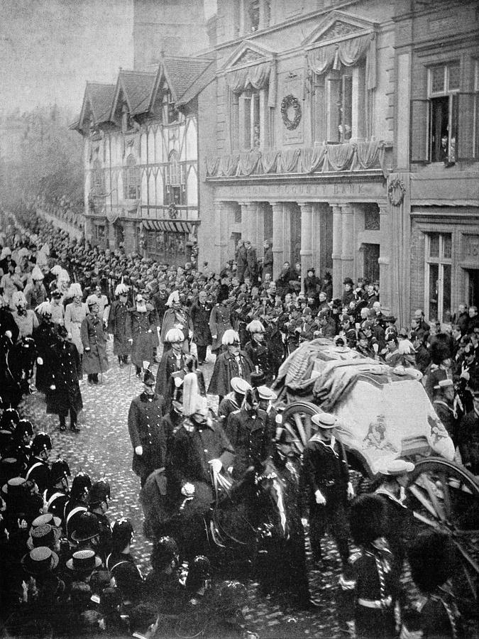1901 Photograph - Funeral Of Queen Victoria by Granger